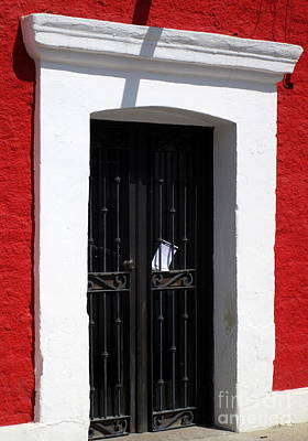 Photograph - San Jose Del Cabo Door 9 by Randall Weidner