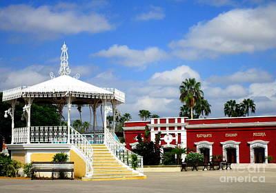 Photograph - San Jose Del Cabo Plaza Gazebo by Randall Weidner