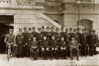 Photograph - San Jose Police Department Circa 1900 by California Views Mr Pat Hathaway Archives