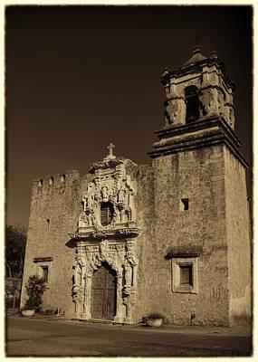 Virgin Guadalupe Photograph - San Jose - Sepia Border by Stephen Stookey