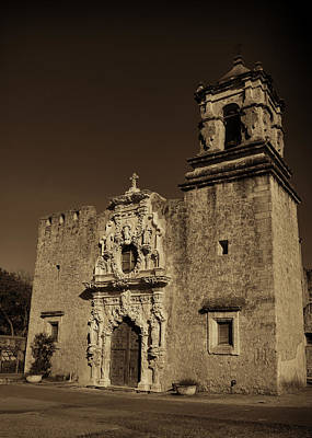 Spanish Mission Photograph - San Jose - Sepia by Stephen Stookey