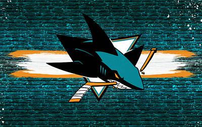 San Jose Sharks Wall Art - Digital Art - San Jose Sharks Artwork by Nicholas Legault