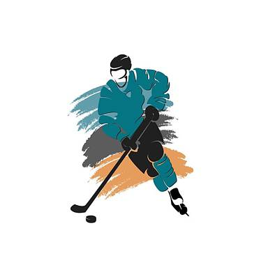 San Jose Sharks Player Shirt Art Print by Joe Hamilton