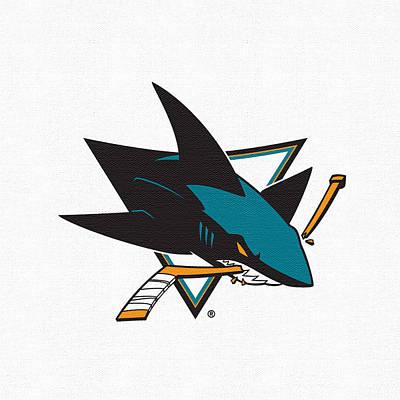 San Jose Sharks Wall Art - Digital Art - San Jose Sharks White by Game On Images