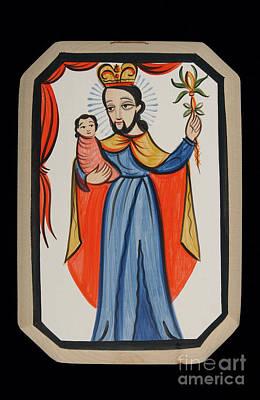 Painting - San Jose - St. Joseph - Aojos by Br Arturo Olivas OFS