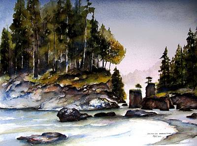 Art Print featuring the painting San Josef Bay by Marti Green