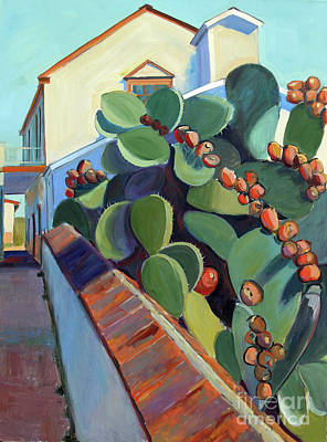 Painting - San Juan Bautista Prickly Pear by Sandra Smith-Dugan