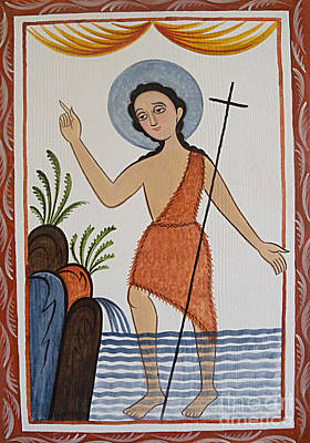 Painting - San Juan Bautista - St. John The Baptist - Aobau by Br Arturo Olivas OFS