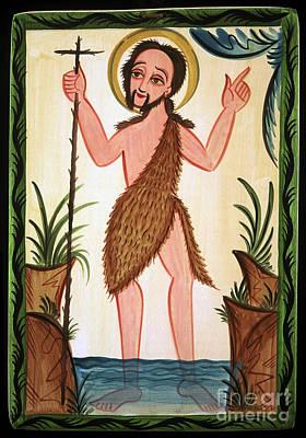 Painting - San Juan Bautista - St. John The Baptist - Aojub by Br Arturo Olivas OFS