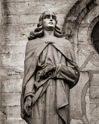 Photograph - San Juan Bautista Statue At The Manizales Cathedral by Adam Rainoff