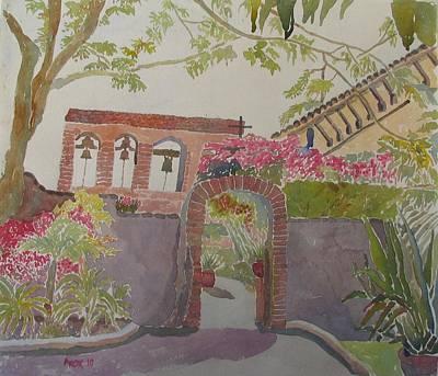 San Juan Capistrano Mission Art Print by Azor Martinez