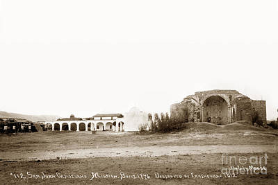 Photograph - San Juan Capistrano Mission Built In 1776 by California Views Mr Pat Hathaway Archives
