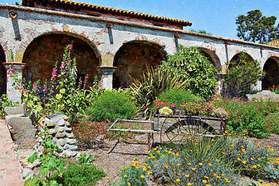 Mixed Media - San Juan Capistrano Mission Impressions by Glenn McCarthy Art and Photography