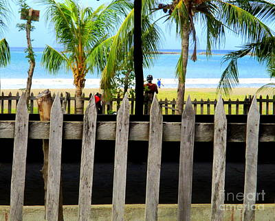 Photograph - San Juan Del Sur Fence 3 by Randall Weidner