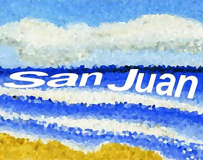 Painting - San Juan  by Dick Sauer