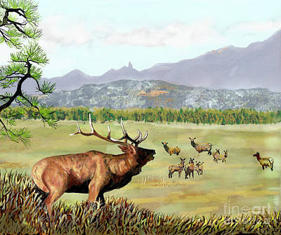 Digital Art - San Juan Elk Vista by Dale E Jackson