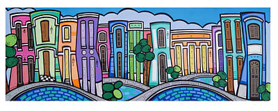 Old San Juan Painting - San Juan Inspira by Mary Tere Perez