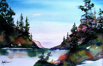 Art Print featuring the painting San Juan Island by Marti Green