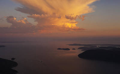 Orca Photograph - San Juan Islands Aerial Thunderstorm by Mike Reid