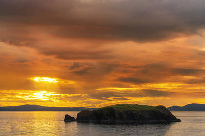 San Juan Islands Golden Hour Art Print