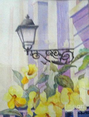 San Juan Painting - San Juan Lamp W Flowers by Austin Burke