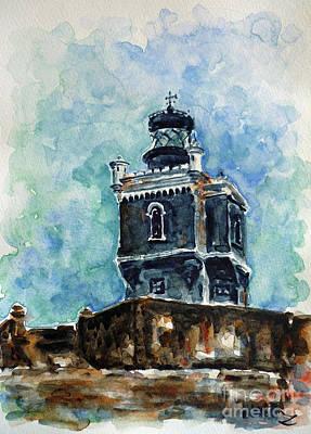 Painting - San Juan Lighthouse by Zaira Dzhaubaeva