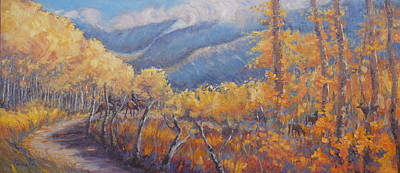 Painting - San Juan Mountain Gold by Gina Grundemann