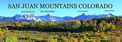 Photograph - San Juan Mountains Educaional by David Lee Thompson