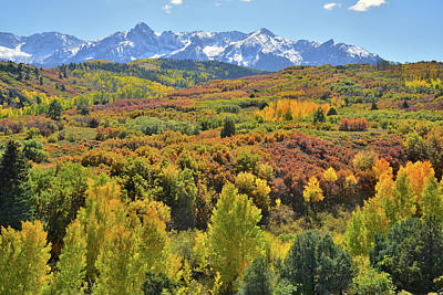 Print featuring the photograph San Juan Mountains From Dallas Divide by Ray Mathis