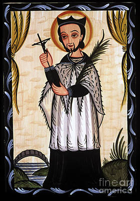 Painting - San Juan Nepomuceno - St. John Nepomucene - Aonep by Br Arturo Olivas OFS