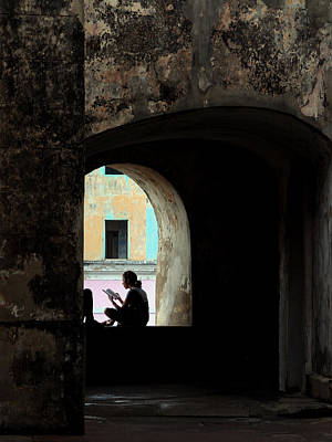Photograph - The Reader, San Juan, Puerto Rico, 2007.  by John Jacquemain