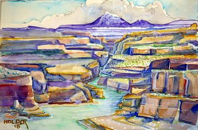 Painting - San Juan River by Steven Holder