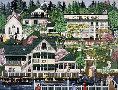Painting - San Juan Roche Harbor Resort by Jennifer Lake