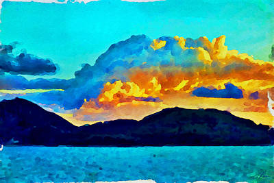 Art Print featuring the painting San Juan Seascape by Joan Reese