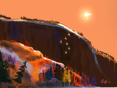 Digital Art - San Juan Sunrise by J Griff Griffin