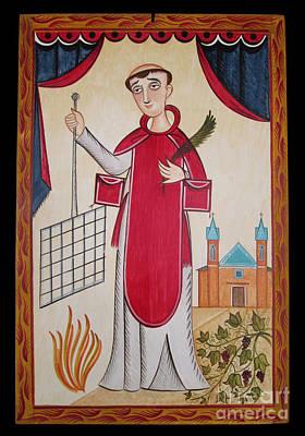 Painting - San Lorenzo - St. Lawrence - Aolrz by Br Arturo Olivas OFS