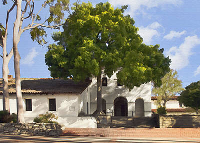 Digital Art - San Luis Mission by Sharon Foster