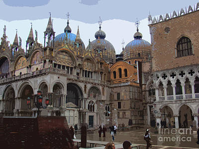San Marco And The Doge's Palace - Venice Art Print by Al Bourassa