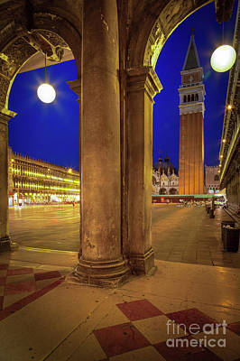 San Marco At Night Art Print by Inge Johnsson