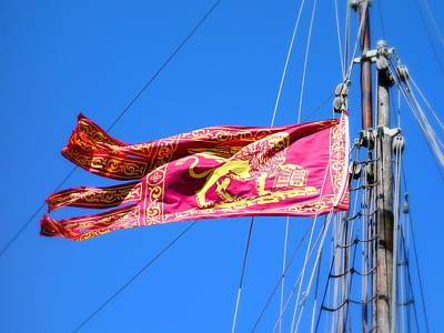 Photograph - San Marco Flag by Valentino Visentini