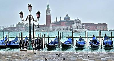 Photograph - San Marco Gondolas  by Frozen in Time Fine Art Photography