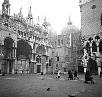 Photograph - San Marco Piazza And Basilica In Venice by Emanuel Tanjala