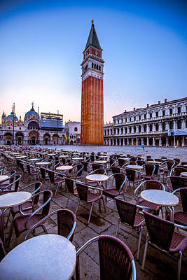 Photograph - San Marco Plaza In The Morning by Lev Kaytsner