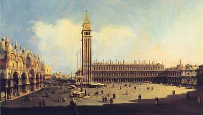San Marco Square From The Clock Tower Facing The Procuratie Nuove Art Print