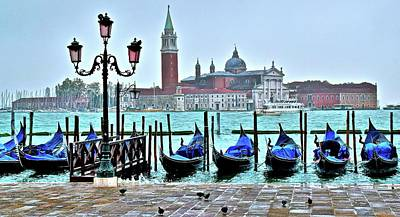 Photograph - San Marco With Gondolas by Frozen in Time Fine Art Photography