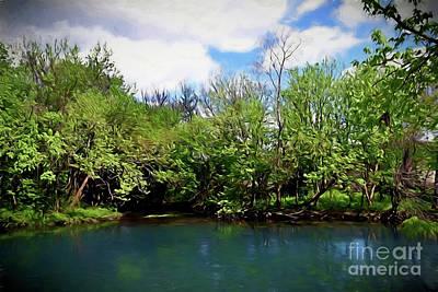 Photograph - San Marcos River Texas 12618-2 by Ray Shrewsberry