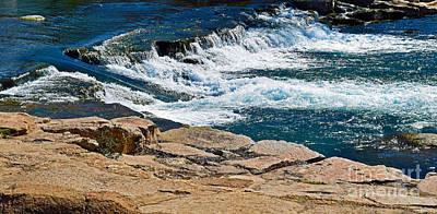 San Marcos River Waterfall  Art Print