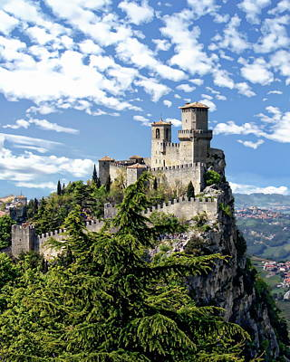 Photograph - San Marino Castle by Anthony Dezenzio