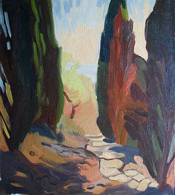 Painting - Landscape In San Marino by Lena Krasotina