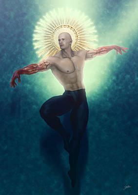 Holy Digital Art - San Martin by Joaquin Abella